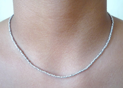 Collar Chaquira Plata