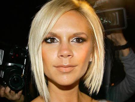 victoria beckham short haircut. victoria beckham blonde short