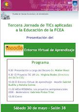 Afiche III Jornada de TICs aplicadas a la educación en la FCEA