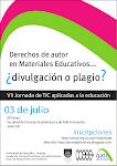 Afiche VII Jornada de TICs aplicadas a la educación para docentes de la FCEA