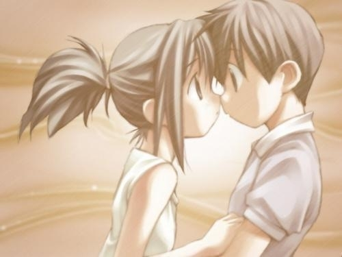 anime couples in love drawings. cute anime couples kiss