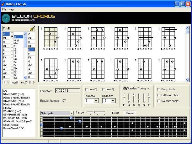 chords on guitar. Billion Chords (Guitar Chord