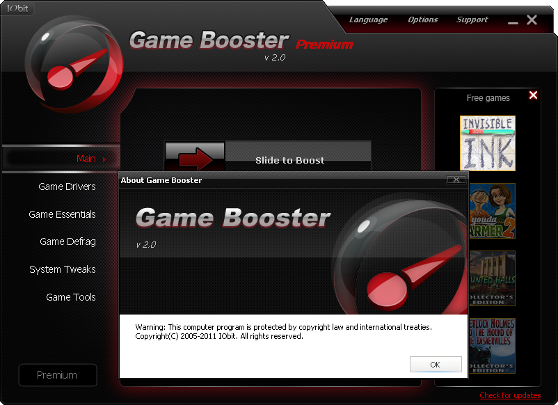 You also have an option of updating drivers and downloading gaming related essential softwares