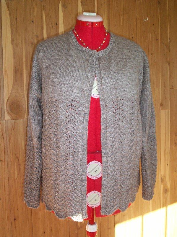Qiviut Knitting Patterns : The Musk Ox - Qiviut blog: Arctic musk ox Blend cardigan Pattern.