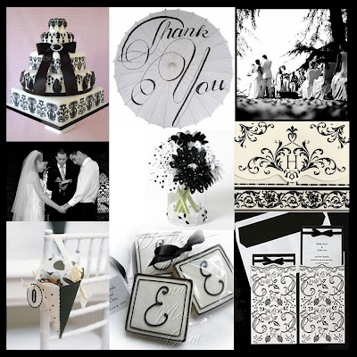Black and White Wedding Inspirational Ideas