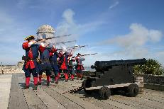 This Saturday in St. Augustine 3  231 musket firing St. Francis Inn St. Augustine Bed and Breakfast