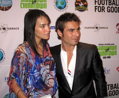 Adrian Mutu + Wife