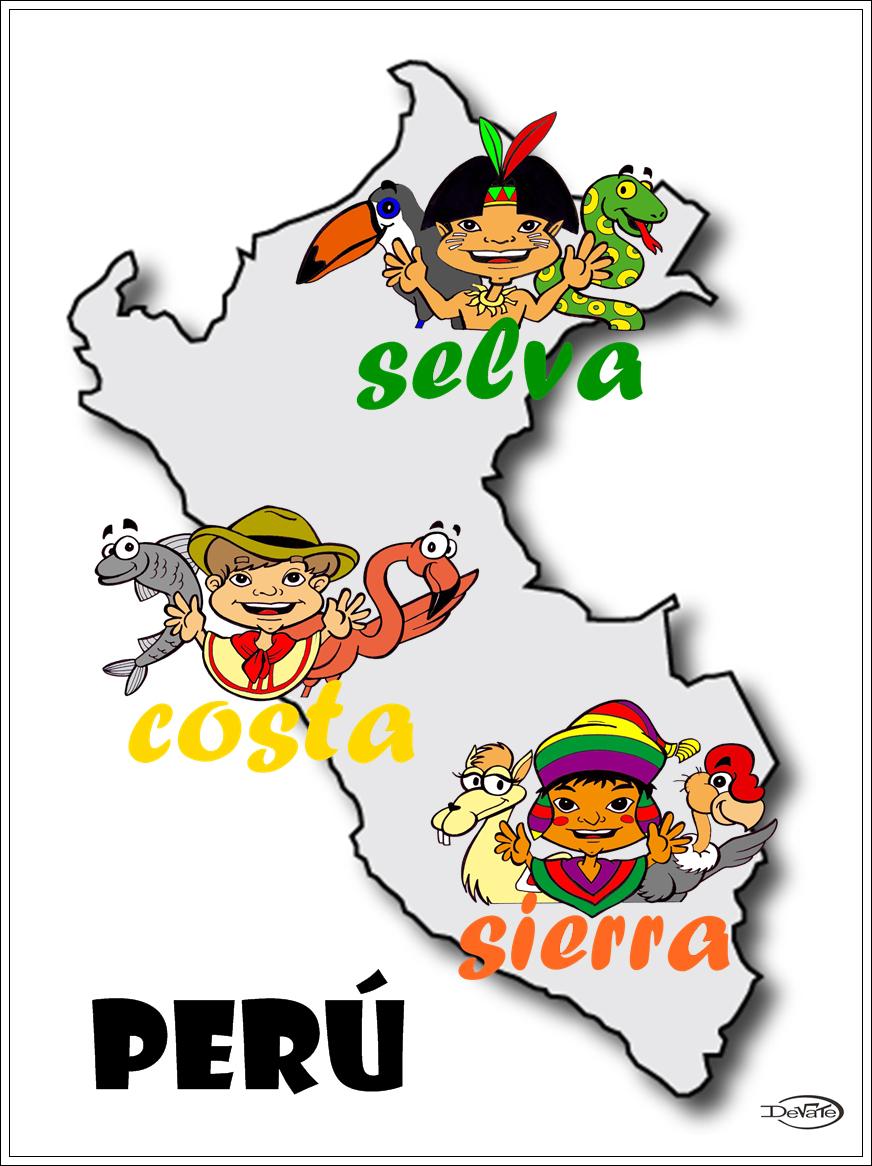 Mapa De Las Tres Regiones Del Peru