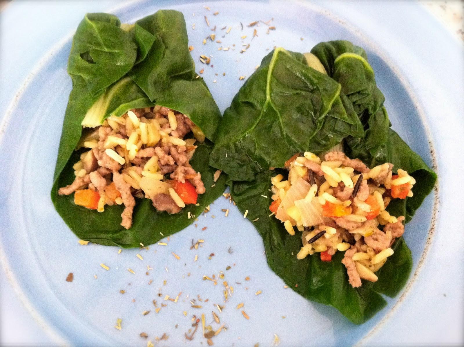 Las recetas de cocina de SofyLeon: Acelgas rellenas de arroz