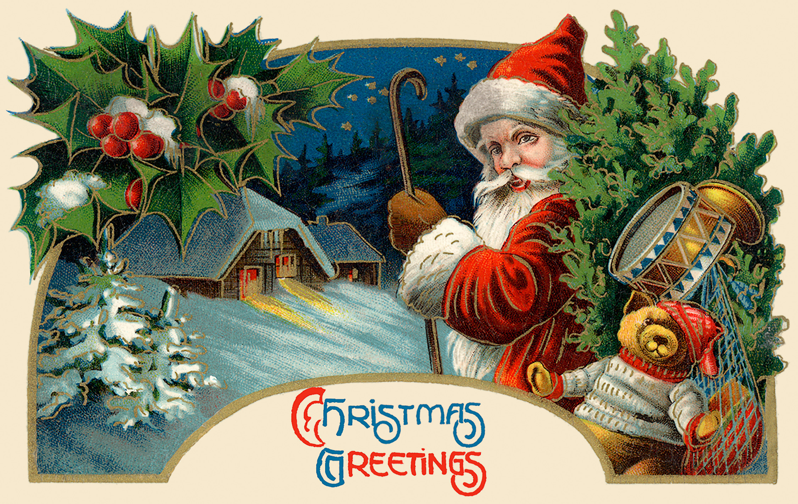 More Retro Santa Claus art – The Long Goodbye