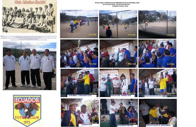 ORGANIZADORES DE LA II COPA DE INDOORFUTBOL CATEGORIA MASTER 2010