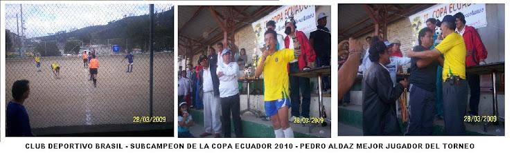 SUBCAMPEON DE LA COPA ECUADOR 2010