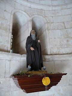 Santo Domingo de la Calzada en la Iglesia de San Juan de Ortega (Burgos)