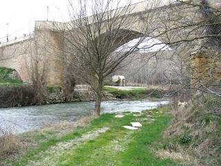 Imagén del río Tirón a su paso por Leiva