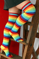 rainbow socks nellie thequeenofcraziness