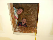 Brooklyn and Porter up in the attic