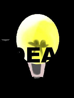 dibujo lamparita de luz e Ideas