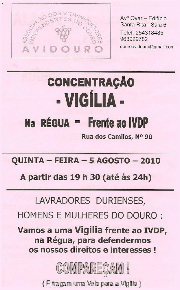 Concentração / Vigília - Peso da Régua
