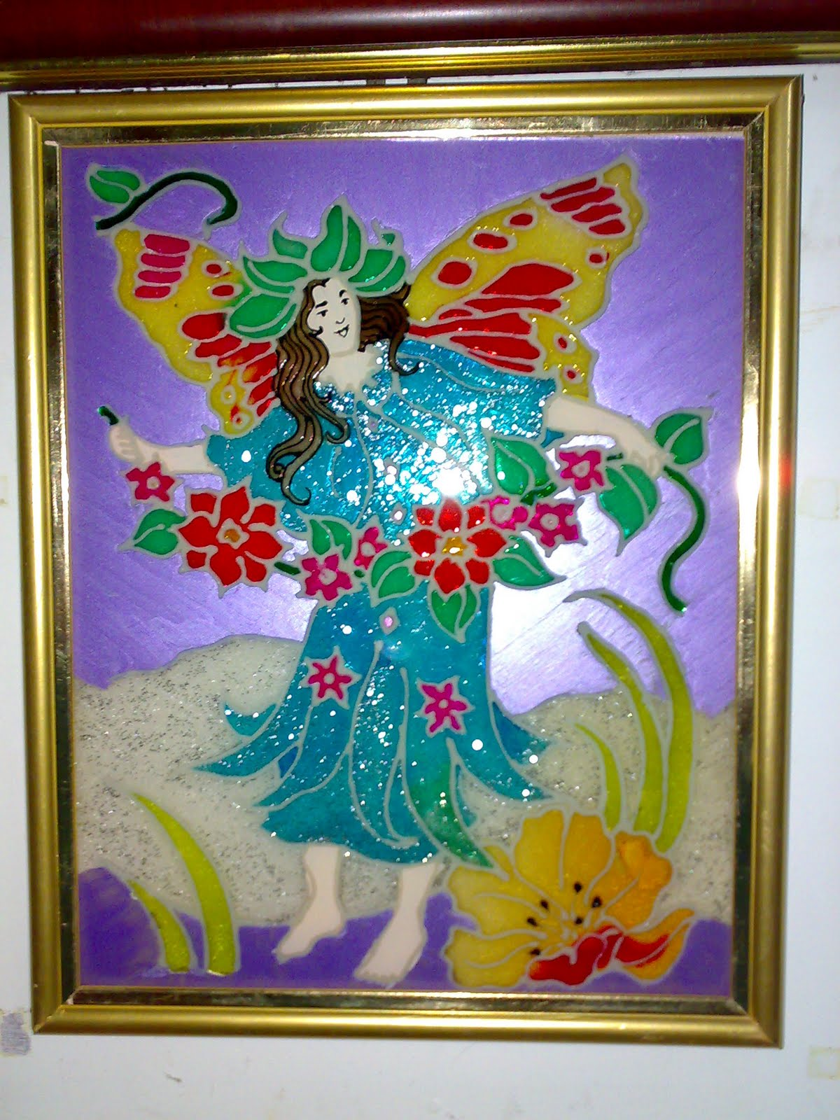 Creative hall glass painting for How to do glass painting at home