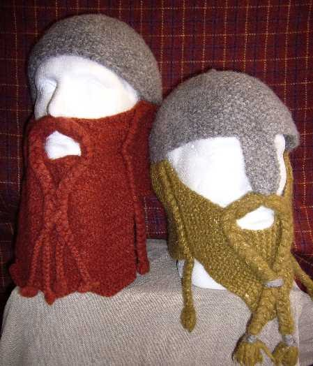 Crochet Dwarf Beard Hat Pattern : Wicked Woollens: Dwarven Battle Bonnet Pattern