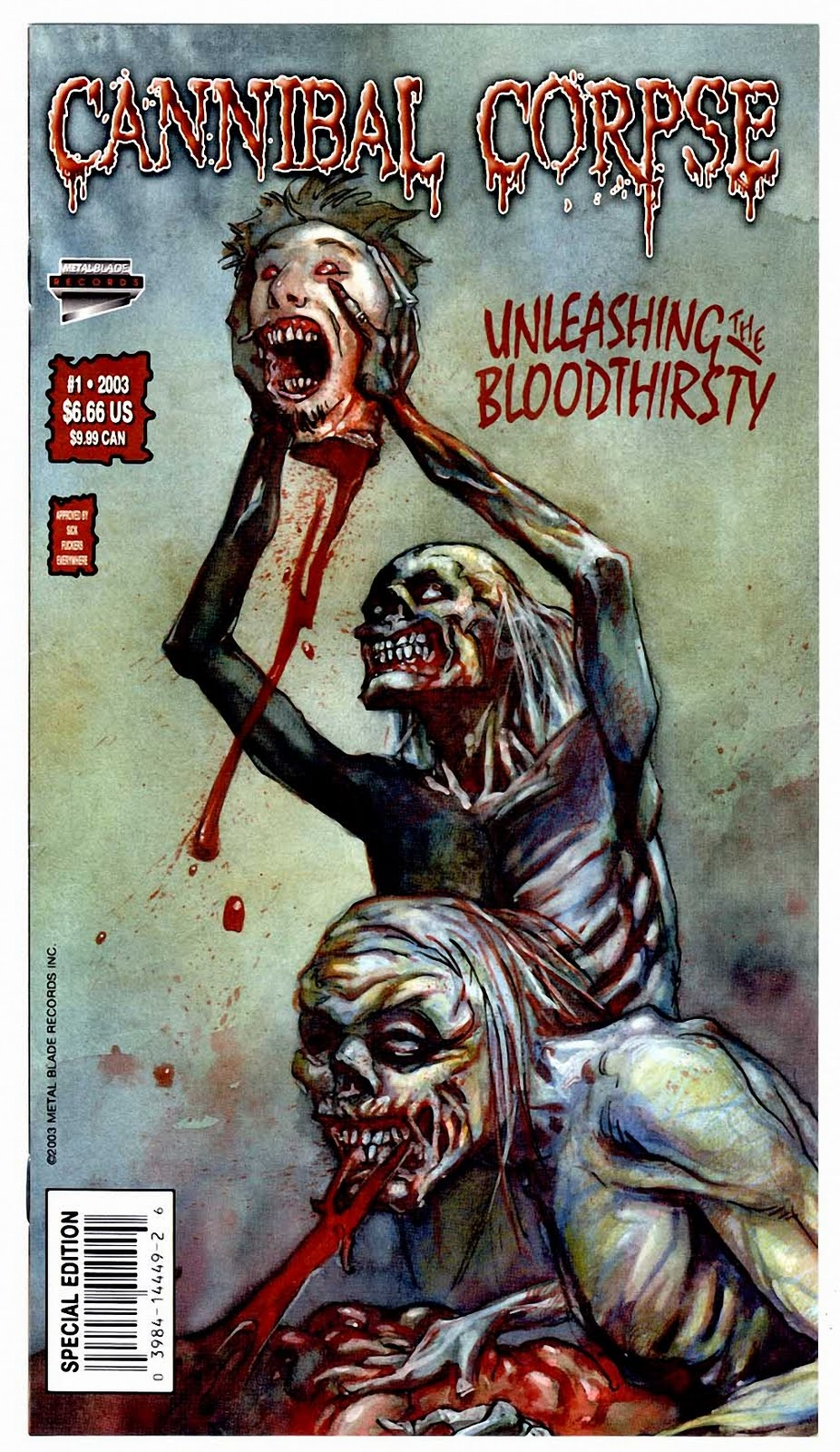CANNIBAL CORPSE - Unleashing The Bloodthirsty (COMIC)