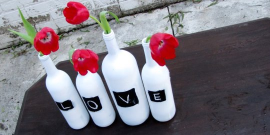 Our Life In A Click Getting Crafty Chalkboard Vases