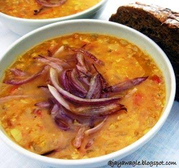 Desi Soccer Mom: Read Pomegranate Soup and slurp red lentil soup