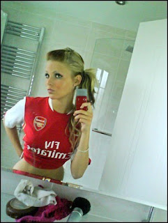 arsenal football babes