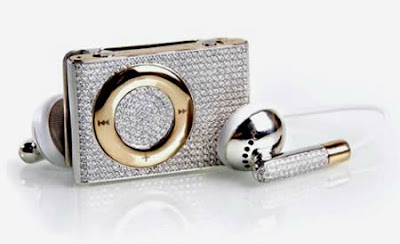 diamond encrusted covered ipod shuffle