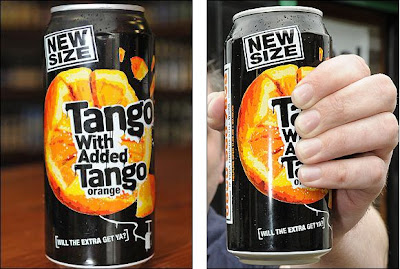 tango orange drink can twat can