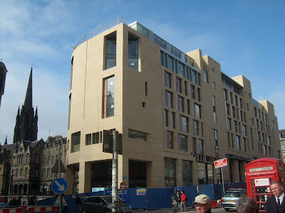 Kilmartin's hotel development at Melbourne Place, Edinburgh, on the site of the former Lothian Regional Council HQ; image courtesy of Picturerama.blogspot