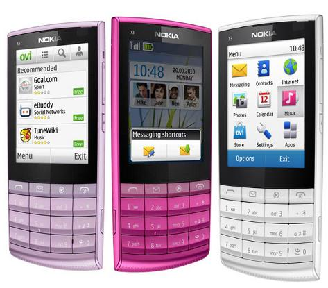 nokia x2 02. Nokia x3-02, Touch and type