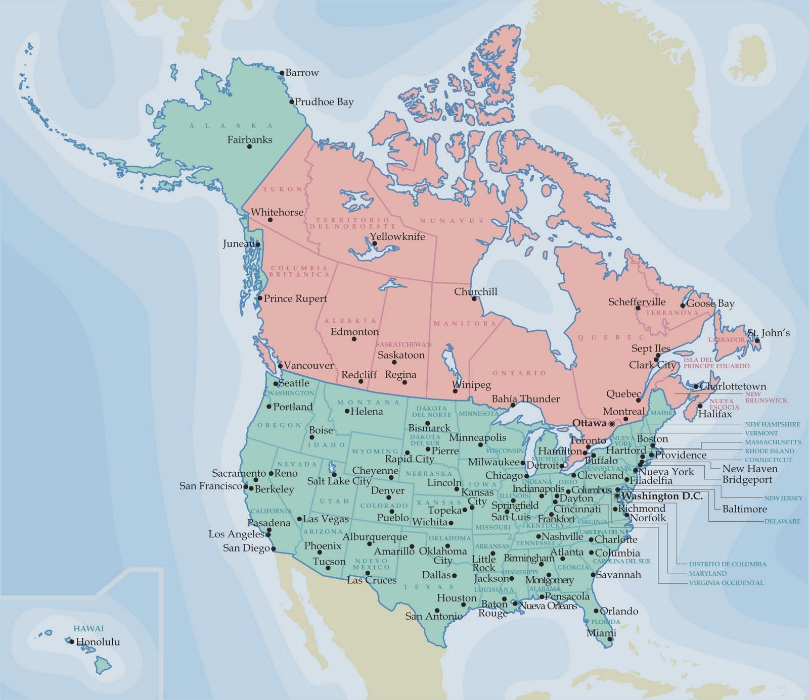 Mapa America Politica