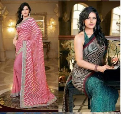 Zarine Khan is look in sarees