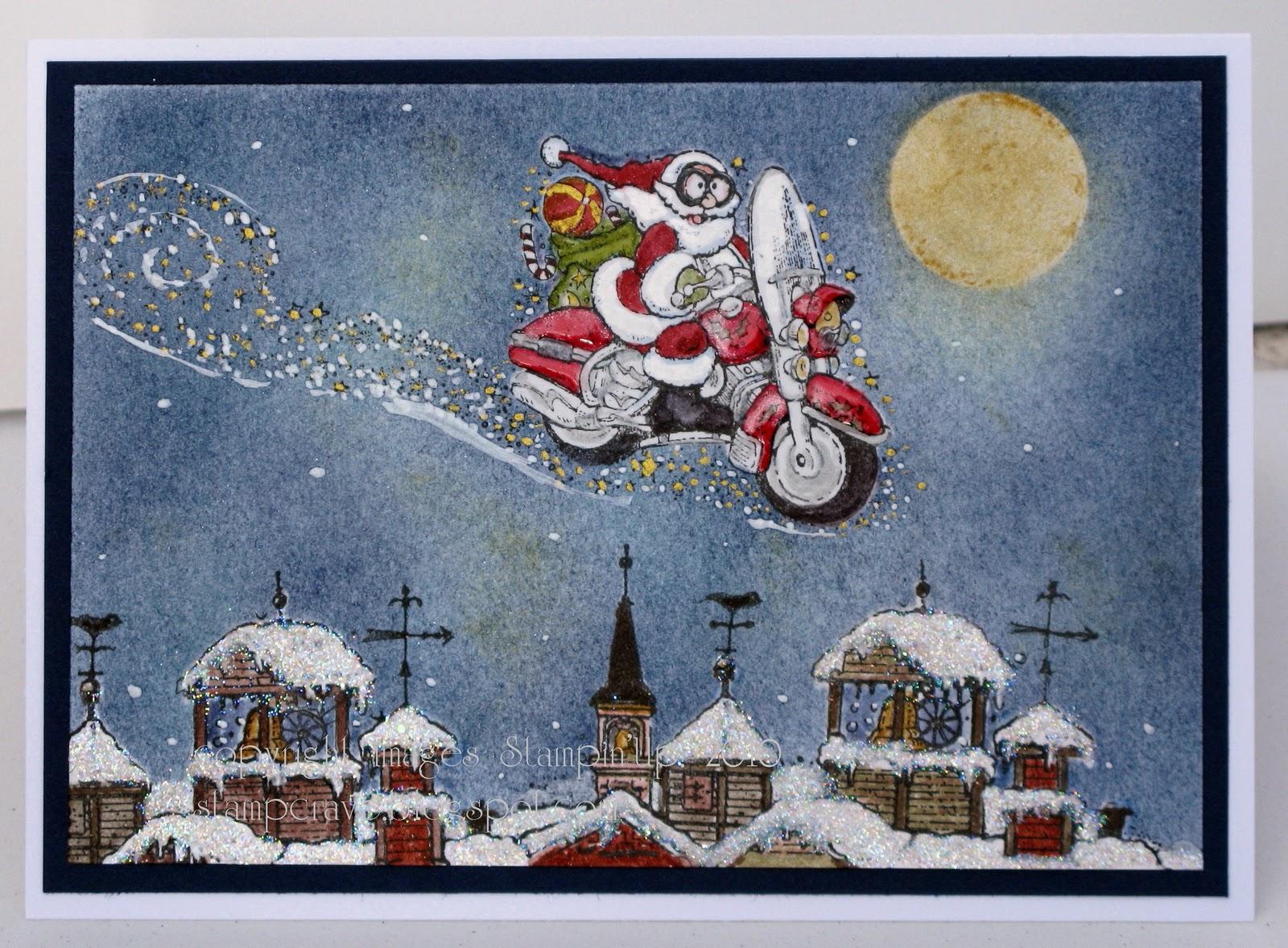 Stampcrave: Live To Ride Santa