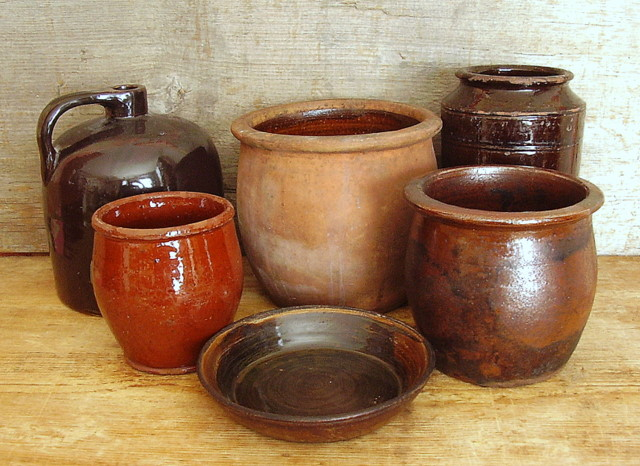 Black Buggy Antiques Redware Pottery A Pennsylvania