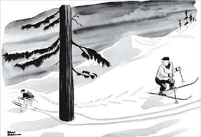 Esquiador - Charles Addams