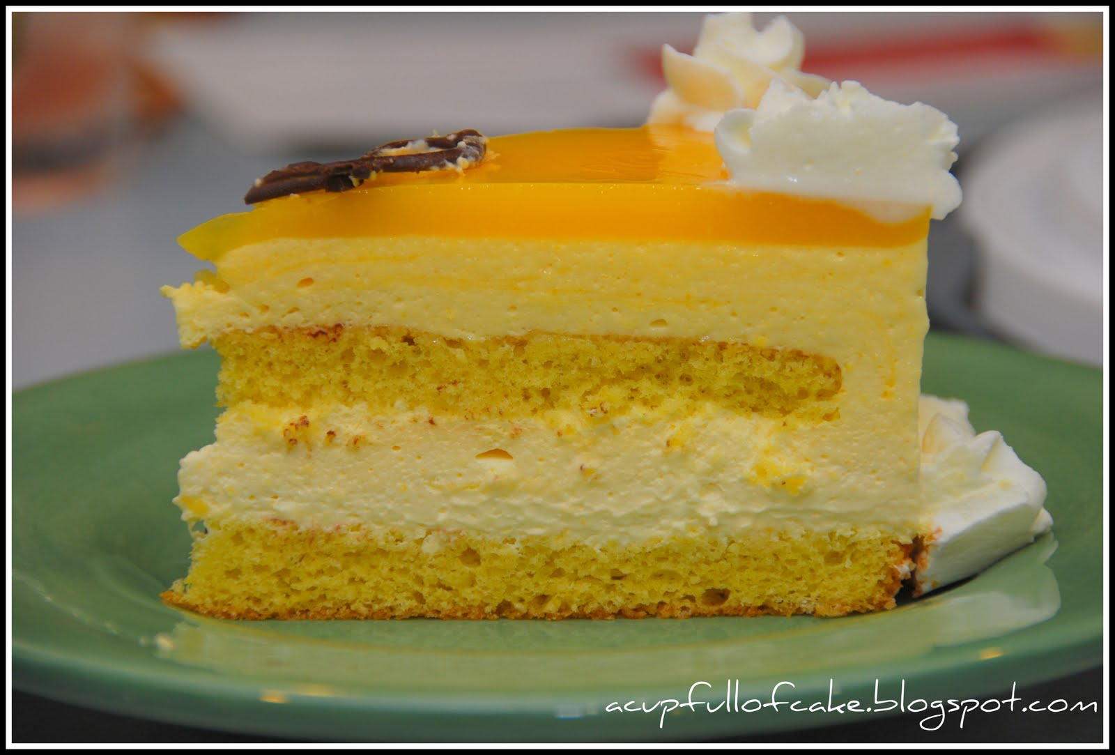 Images For Mango Cake : A Cup Full of Cake: Mango Mousse Anniversary Cake