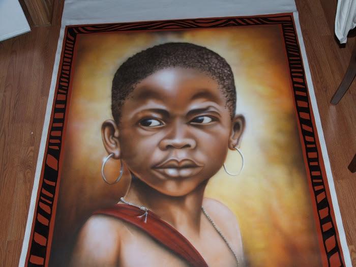 portrait sur toile