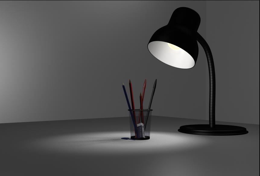 david romero animador 3d lampara oficina terminado