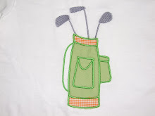 Golf Bag Applique