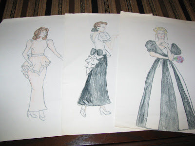The sketches are from 3 other wedding parties in the late 80 39s