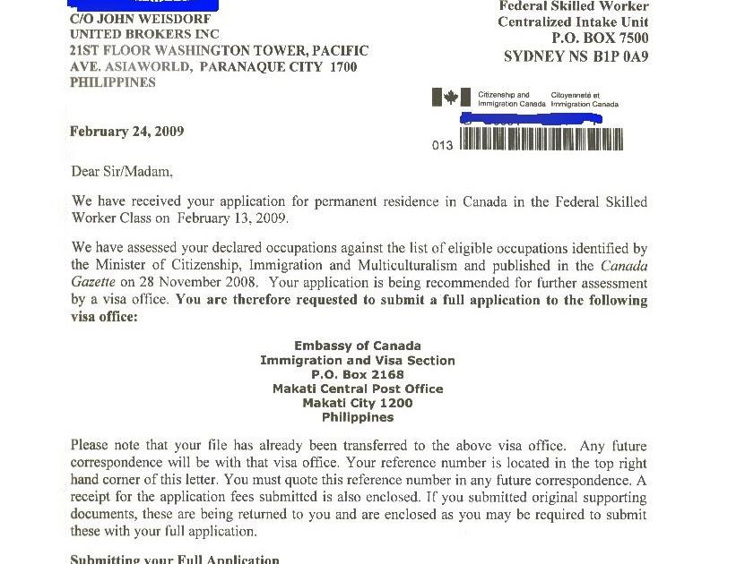 Sinp Job Approval Letter Sample