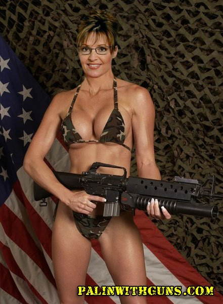 Palin bikini assault rifle