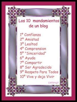 Los diez mandamientos de un blog