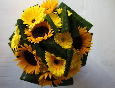sunflower wedding bouquets. Sunflower Bridal Bouquet