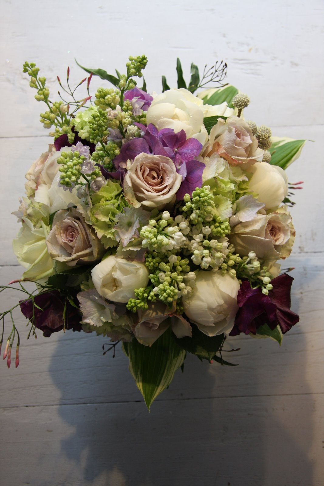 the flower magician vintage wedding bouquet to tone with egg plant toned bridesmaids gowns. Black Bedroom Furniture Sets. Home Design Ideas