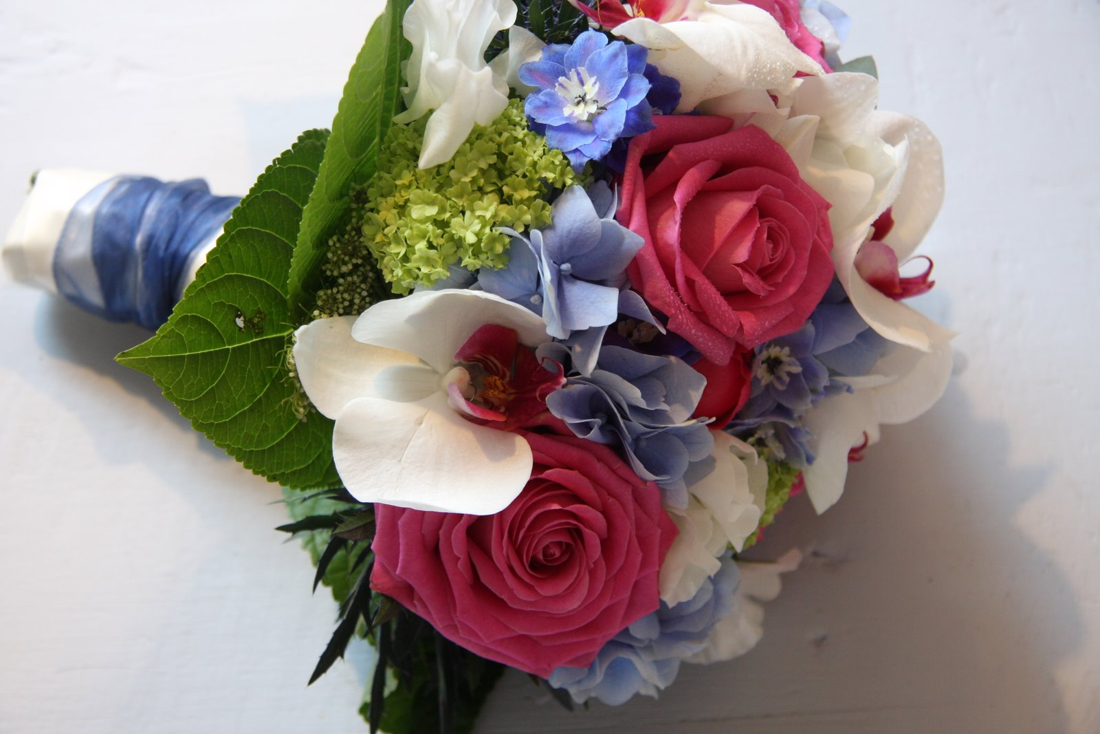 Pink Blue And White Wedding Bouquets : The flower magician hot pink royal blue wedding bouquet