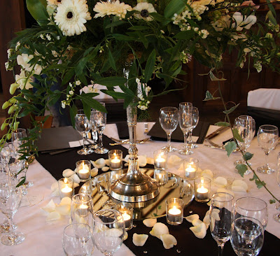 We have of course decorated the Ceremony Space and the Dining Tables with an