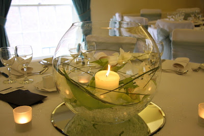 Site Blogspot Wedding Table Centerpieces on Goldfish Bowl Table Centre Complete With Candle In The West & Purple Wedding Table Decorations - WEDDING DRESSES